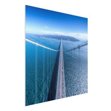 Quadro in forex - Bridge to the Islanda - Quadrato 1:1