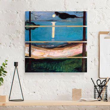 Stampa su legno - Edvard Munch - Luna Notte - Quadrato 1:1