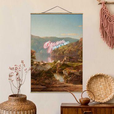 Foto su tessuto da parete con bastone - Aperto 24 ore - Verticale 3:2