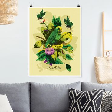 Poster - Frida Kahlo - Bonito - Verticale 4:3