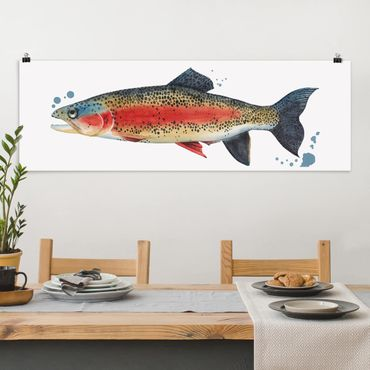 Poster - ColorCatch - Trota - Panorama formato orizzontale