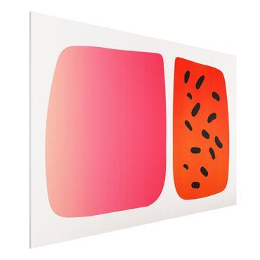 Stampa su Forex - Forme astratte - melone e rosa - Orizzontale 2:3