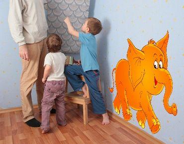 Adesivo murale no.11 Laughing Elephant