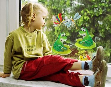 Adesivi da finestra no.14 frog in conzert