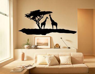 Adesivo murale no.TM5 Two giraffes