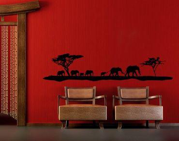 Adesivo murale no.TM11 Elefanten Family