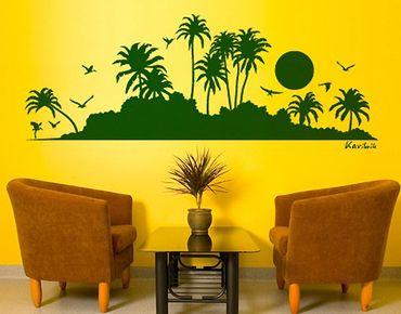 Adesivo murale no.SF494 Caribbean Silhouette