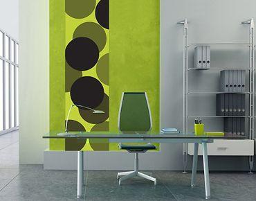 Adesivo murale no.UL258 Wallpaper Green Balls