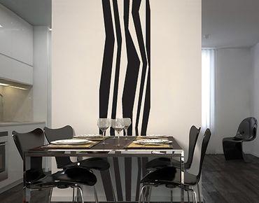 Adesivo murale no.UL260 wallpaper longitudinal stripes