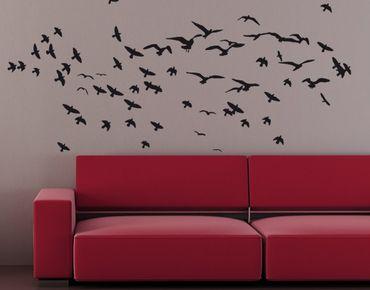 Adesivo murale no.KP21 swarm of birds I