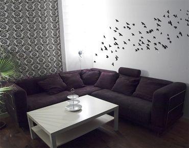 Adesivo murale no.KP22 swarm of birds II