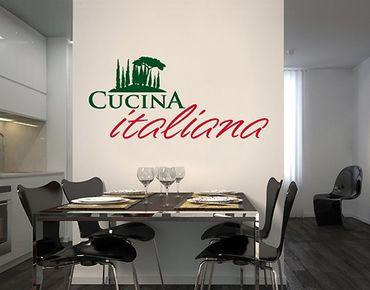 Adesivo murale no.SF507 Cucina Italiania