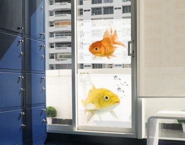 Decorazione per finestre Colourful Fishes Duo