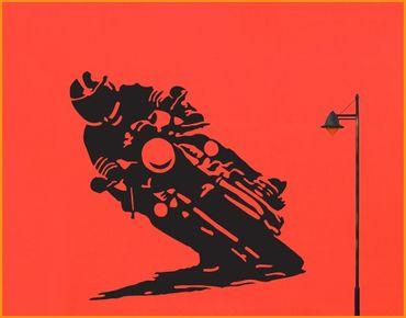 Adesivo murale no.UL286 Motorcyclist