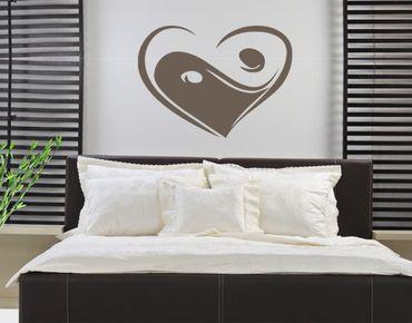 Adesivo murale no.KP135 yin love yan