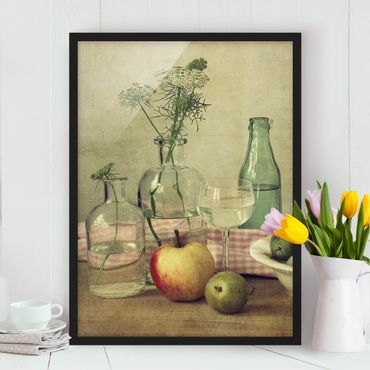 Poster con cornice - Still Life With Bottles - Verticale 4:3