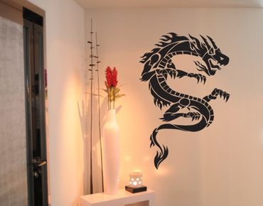 Adesivo murale no.TM34 Tribal Dragon 3