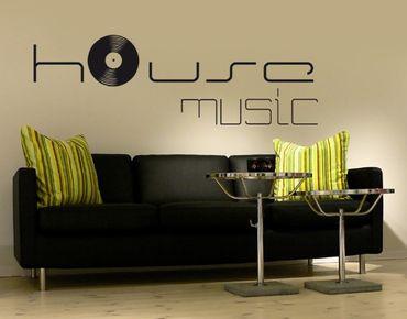 Adesivo murale no.KP60 house music