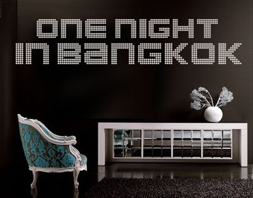 Adesivo murale no.TM71 one night in bangkok