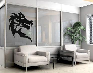 Adesivo murale no.KP101 dragonhead