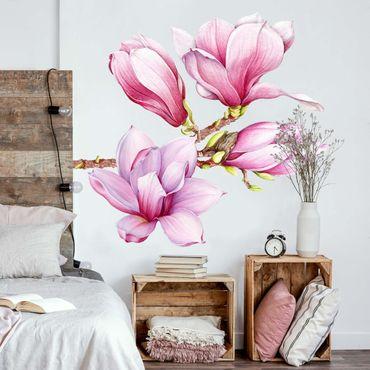 Adesivo murale - Acquerello Magnolia Set XXL