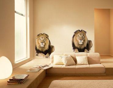 Adesivo murale no.165 Two Lions