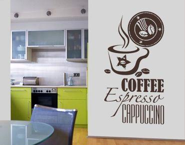Adesivo murale no.SF598 coffee 5