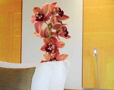 Adesivo murale no.180 Orchid White Red II