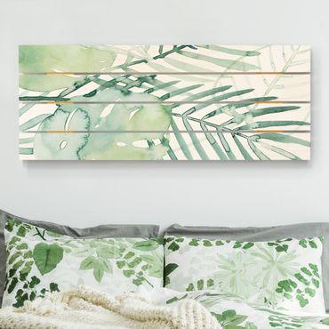 Stampa su legno - Palm Fronde in acquerello I - Orizzontale 2:5