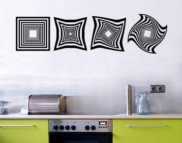 Adesivo murale no.SF606 OP Art long