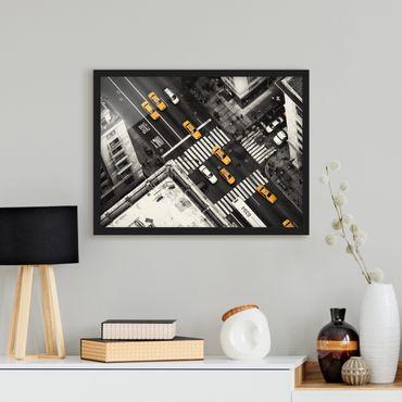 Poster con cornice - I taxi di New York - Orizzontale 3:4