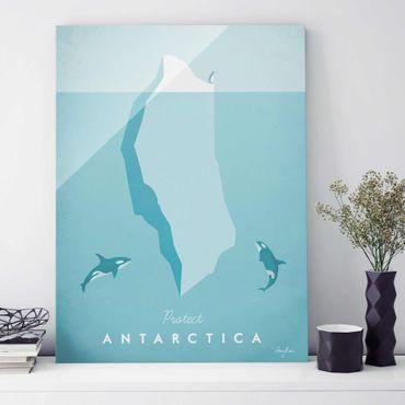 Quadro in vetro - Poster di viaggio - Antartide - Verticale 4:3