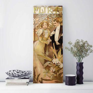 Quadro in vetro - Alfons Mucha - Pubblicità Poster For Flirt Biscuits - Pannello