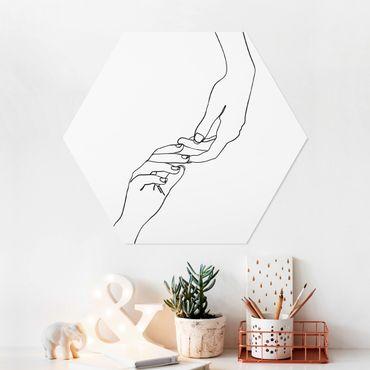 Esagono in forex - Linea Mani d'arte Toccando Bianco e nero