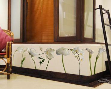 Adesivo murale no.SB67 Flowerpower White