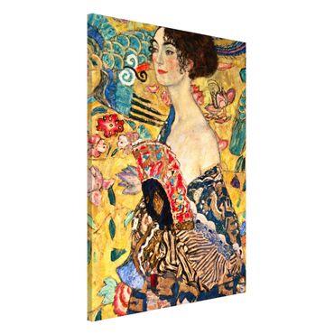 Lavagna magnetica - Gustav Klimt - Donna con ventaglio - Formato verticale 2:3