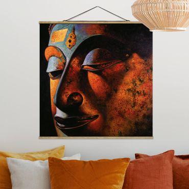 Foto su tessuto da parete con bastone - Bombay Buddha - Quadrato 1:1