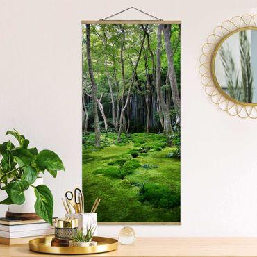 Foto su tessuto da parete con bastone - Alberi che crescono - Verticale 2:1