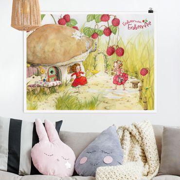 Poster - Strawberry Coniglio Erdbeerfee - Under The Himbeerstrauch - Orizzontale 3:4