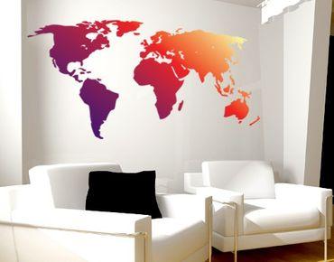 Adesivo murale no.212 World Map Red