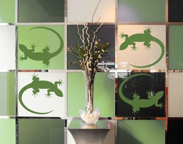 Adesivo murale no.725 Gecko Set