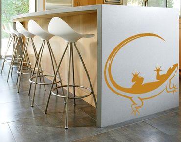 Adesivo murale no.727 Gecko Ying & Yang