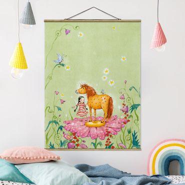 Foto su tessuto da parete con bastone - The Magic Pony Sul Fiore - Verticale 4:3