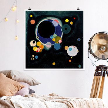 Poster - Wassily Kandinsky - Circles schizzo - Quadrato 1:1