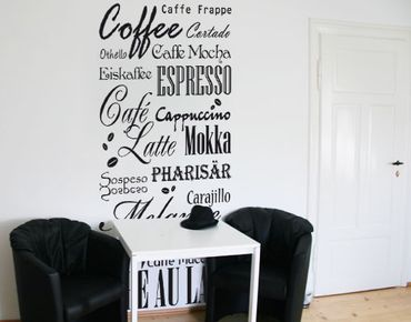 Adesivo murale no.736 Coffee & more