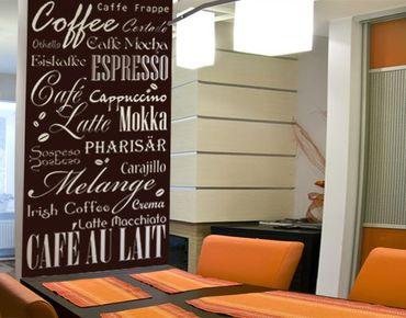 Adesivo murale no.737 Coffee & more II