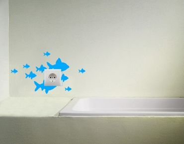 Adesivo murale no.CG21 fish swarm 19cm x 33cm