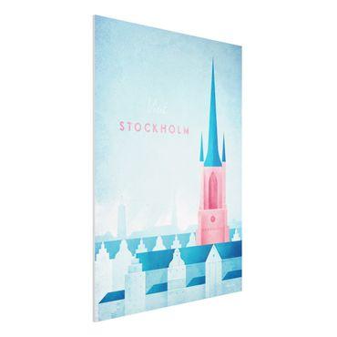 Stampa su Forex - Poster Viaggi - Stoccolma - Verticale 4:3