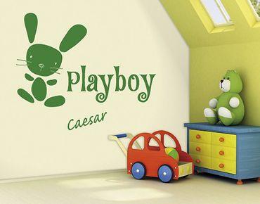 Adesivo murale scritte - no.SF743 Playboy - Con testo personalizzato