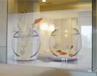 Decorazione per finestre Flying Goldfish